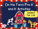 Pre-K and Kindergarten On the Farm Activities