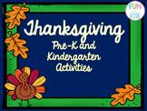 Pre-K and Kindergarten Thanksgiving Activities