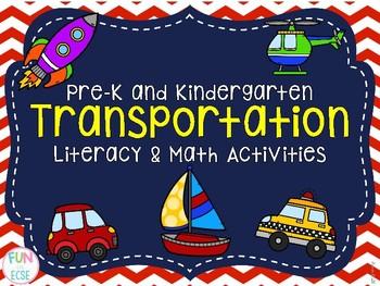 Pre-K and Kindergarten Transportation Literacy and Math Activities