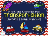 Pre-K & Kindergarten Transportation Literacy & Math Activities