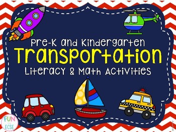 pre k kindergarten transportation literacy math activities by fun in ecse. Black Bedroom Furniture Sets. Home Design Ideas
