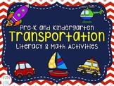 Pre-K & Kindergarten Transportation Literacy & Math Activities