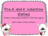 Pre-K and Kindergarten Valentine Games