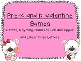 Pre-K and Kindergarten Valentine Games