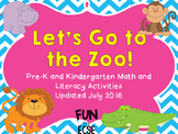 Let's Go to the Zoo Pre-K and Kindergarten Literacy and Ma