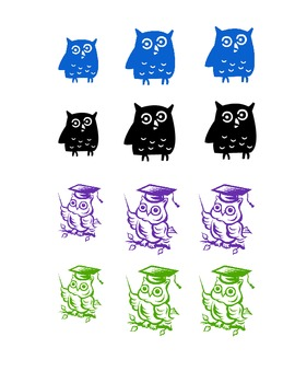 Pre-K and K owl themed AM & PM tags