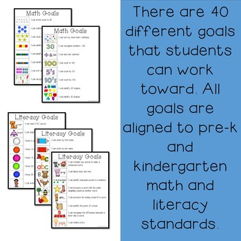 Pre-K and Kindergarten Goals for Math and Literacy