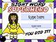 Pre-K and Kindergarden Sight Words Certificates EDITABLE USA