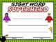 Pre-K and Kindergarden Sight Words Certificates EDITABLE USA