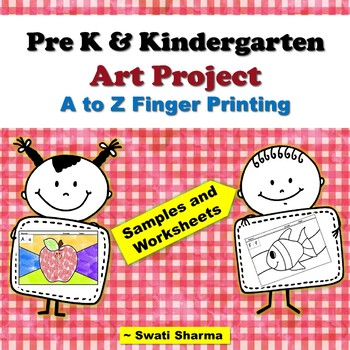 Pre-K, Kindergarten, Year Long Alphabets Painting/Printing Art Activity