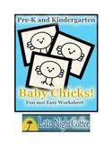 Pre-K and Kindergarten Baby Chicks Worksheet