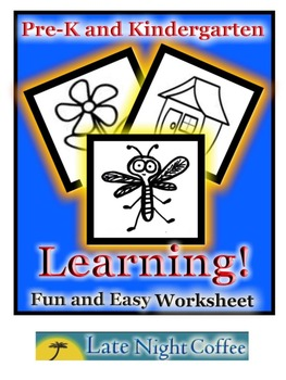 "Pre-K and Kindergarten ""Back to School"" Worksheet"