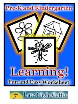 "Pre-K and Kindergarten ""Back to School"" Worksheet"