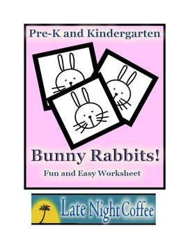 Pre-K and Kindergarten: Bunny Rabbits Worksheet