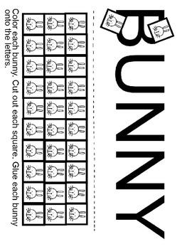 Pre-K and Kindergarten: Bunny Rabbits Worksheet