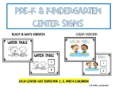Pre-K and Kindergarten Center Signs