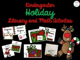 Kindergarten Literacy and Math Holiday Activities