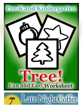 Pre-K and Kindergarten Christmas Tree Worksheet