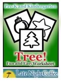 Pre-K and Kindergarten Christmas Tree Worksheet