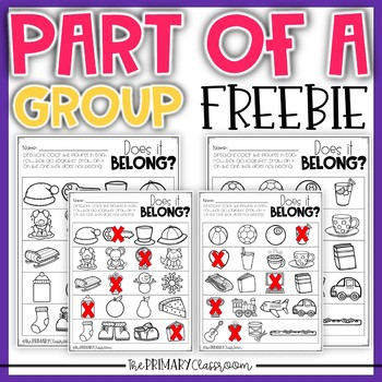 Pre-K and Kindergarten Comparisons and Parts of a Group - FREEBIE