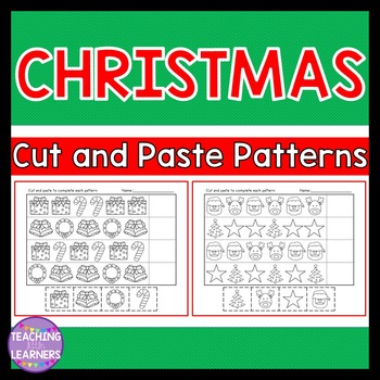 Christmas Patterns Cut and Paste