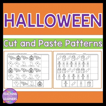 Halloween Patterns Cut and Paste