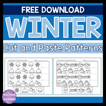 Winter Patterns Cut and Paste