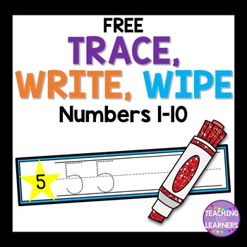 Numbers Dry Erase Cards