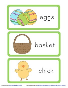Pre-K and Kindergarten: Easter Word Wall