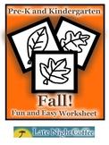 Pre-K and Kindergarten Fall Worksheet