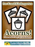 Pre-K and Kindergarten Acorn Worksheet
