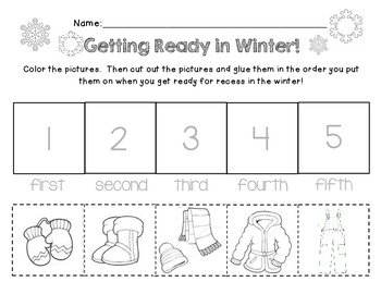 pre k and kindergarten how to dress in winter worksheet by kinder sailor. Black Bedroom Furniture Sets. Home Design Ideas