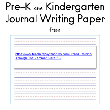 Pre-K and Kindergarten Journal Writing Paper