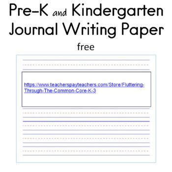 Pre-K and Kindergarten Journal Writing Paper