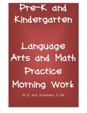 Pre-K and Kindergarten Language Arts and Math Practice Morning Work