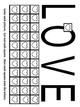 Pre-K and Kindergarten Love Worksheet