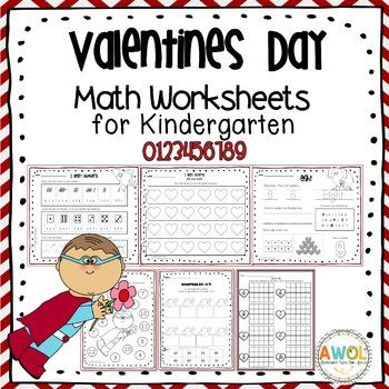 math activities and worksheets for valentine 39 s day pre k kindergarten. Black Bedroom Furniture Sets. Home Design Ideas