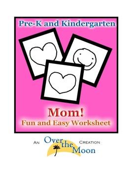 Pre-K and Kindergarten Mom Worksheet