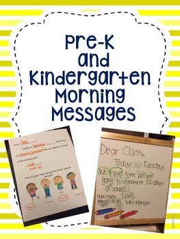 Pre-K and Kindergarten Morning Messages by Fun in ECSE | TpT