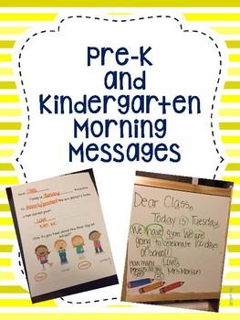 Pre-K and Kindergarten Morning Messages