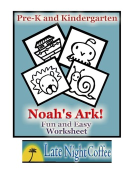 Pre-K and Kindergarten Noah's Ark Worksheet