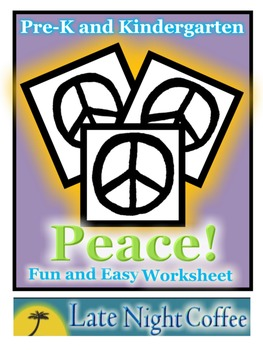 Pre-K and Kindergarten Peace Worksheet