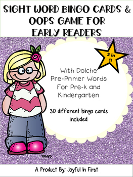 Early Reader Games Bingo and Oops