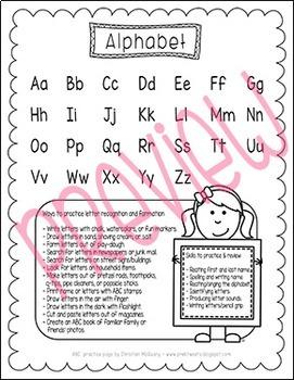 Pre-K and Kindergarten Review