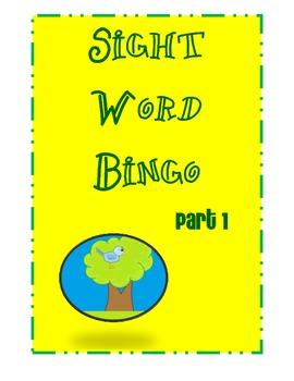 Pre-K and Kindergarten Sight Word Bingo Part 1 (10 bingo cards)