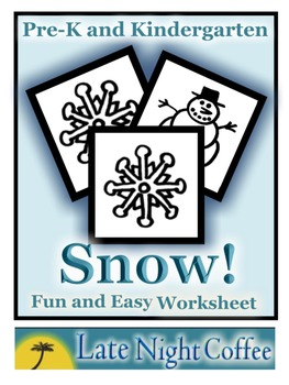 Pre-K and Kindergarten Snow Worksheet