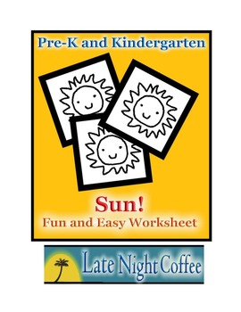 Pre-K and Kindergarten Sun Worksheet