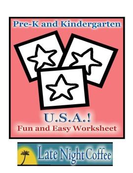 Pre-K and Kindergarten USA Worksheet