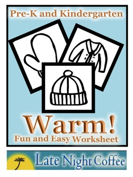 Pre-K and Kindergarten Warm Winter Clothes Worksheet