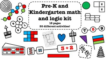 Pre K and Kindergarten math and logic activity kit